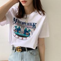 T-shirt 3635 white 933 white 930 white 931 white 933 black [two short sleeves 65 yuan] free collocation, contact customer service or take notes S M L XL Summer 2021 Short sleeve Crew neck easy Regular routine commute cotton 86% (inclusive) -95% (inclusive) 25-29 years old Korean version originality