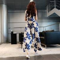 Casual pants Picture color S M L XL Summer of 2018 Ninth pants Wide leg pants Natural waist commute routine FA166 Enchantment of imperial concubines Korean version pocket Polyester 100% Pure e-commerce (online only)