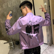 Jacket Tiger Wolf Youth fashion M L XL 2XL 3XL routine standard Other leisure autumn Polyester 100% Long sleeves Wear out stand collar tide routine Zipper placket Rubber band hem No iron treatment Closing sleeve character Autumn of 2019 Rib bottom pendulum Cover patch bag