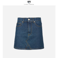 skirt Summer 2020 XS S M L SKY BLUE Short skirt Natural waist A-line skirt Solid color Type A 25-29 years old CFST032 More than 95% Chiara Ferragni cotton pocket Cotton 100%