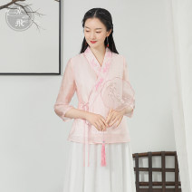 jacket Spring 2021 S M L Blue Pink S3535 Sufei 25-35 years old Polyester 100% Pure e-commerce (online only)
