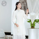 cheongsam Spring 2021 S M L white other Short cheongsam Retro High slit daily Oblique lapel Solid color 25-35 years old L3338 Sufei cotton Cotton 70% flax 30% Pure e-commerce (online only) 71% (inclusive) - 80% (inclusive)