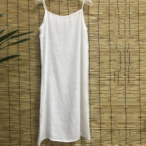 Vest sling Summer of 2018 white Average size singleton  Medium length Self cultivation Versatile camisole Solid color 25-29 years old 96% and above polyester fiber S007 Sufei Polyester 100% Pure e-commerce (online only)