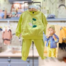 suit moimoln Li green purchasing agent , Li green (delivery within 48 hours) 100 is suitable for about 85CM , 110 is suitable for 95cm , 120 yards fits about 105cm , 130 yards for 115cm or so neutral spring and autumn Korean version Long sleeve + pants 2 pieces routine No model Socket nothing other