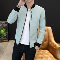 Windbreaker That is the trend Youth fashion M L XL 2XL 3XL zipper have cash less than that is registered in the accounts standard Other leisure Four seasons teenagers other tide Polyester 100% Solid color No iron treatment Side seam pocket other Zipper decoration polyester fiber Autumn of 2019