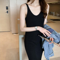 Dress Spring of 2019 Black apricot coffee XS S M Mid length dress singleton  Sleeveless commute V-neck Loose waist Decor One pace skirt other camisole 25-29 years old Type A Teilwenl / Tiki Simplicity TWX30835S More than 95% other Other 100% Pure e-commerce (online only)