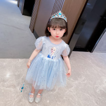 Dress female Seven Star Road 90cm 100cm 110cm 120cm 130cm Other 100% summer polyester Fluffy skirt 3 months 12 months 6 months 9 months 18 months 2 years 3 years 4 years 5 years 6 years 7 years 8 years old