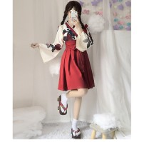 Cosplay women's wear suit goods in stock Over 14 years old Red dress + skirt, black top + skirt comic S,M,L Chinese Mainland Ancient, lovely, harmonious, campus, Republic of China, Hanfu, Lolita