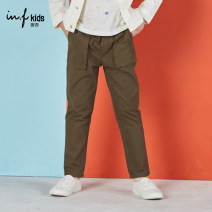trousers F / no male 100cm 110cm 120cm 130cm 140cm 150cm 630 army green 700 light blue spring and autumn trousers leisure time There are models in the real shooting Casual pants Leather belt middle-waisted Pure cotton (100% content) Don't open the crotch Cotton 100% B7145536 Class B Autumn of 2019