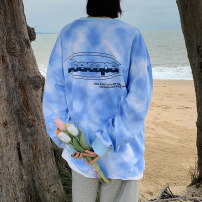 T-shirt Grey blue pink M L XL 2XL 3XL 4XL 5XL Spring 2021 Long sleeves Crew neck easy Regular routine commute cotton 96% and above 18-24 years old Korean version originality Digital color matching gradient Teng Yiman TYMTXMM02 Tie dye printing Cotton 100% Pure e-commerce (online only)