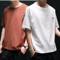 T-shirt Youth fashion thin M L XL 2XL 3XL 4XL 5XL WZE Short sleeve Crew neck easy Other leisure summer Cotton 100% youth routine tide Summer 2020 natural scenery No iron treatment Pure e-commerce (online only)