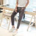 Casual pants WZE Youth fashion White dark grey black Navy M L XL 2XL 3XL 4XL 5XL thin Ninth pants Other leisure Self cultivation Micro bomb WZ1038 summer teenagers 2019 Medium low back Little feet Cotton 100% Sports pants Pocket decoration washing Spring of 2019 Pure e-commerce (online only)