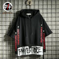 T-shirt Youth fashion Black red routine M L XL 2XL Wdtti Short sleeve Hood easy Other leisure summer FY039 Cotton 75% polyethylene terephthalate (polyester) 25% teenagers Off shoulder sleeve Hip hop Spring of 2019 Alphanumeric Ribbon The thought of writing No iron treatment Fashion brand
