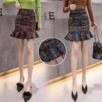 skirt Spring 2020 3XL,S,M,L,XL,4XL,2XL,5XL Red, blue Short skirt Sweet High waist Ruffle Skirt Decor Type A 18-24 years old LLUN1748 51% (inclusive) - 70% (inclusive) knitting Other / other cotton 401g / m ^ 2 (inclusive) - 500g / m ^ 2 (inclusive) college