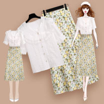 Fashion suit Meen'cou / mengkou 202751+210212#2 Summer 2021 Other 100% Pure e-commerce (online sales only) 25-35 years old 212825 white shirt 210103 floral skirt 1 S M L XL