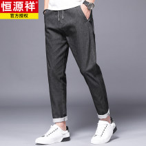 Casual pants hyz  Fashion City Grey olive green black 28 29 30 31 32 33 34 36 38 routine trousers Other leisure easy Micro bomb 21LXXH-KZ8821 spring middle age Youthful vigor 2021 middle-waisted Little feet Cotton 58.5% polyester 38.8% polyurethane elastic fiber (spandex) 2.7% washing Solid color