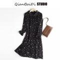 Dress Autumn 2020 Black, apricot S,M,L Mid length dress singleton  Long sleeves High waist