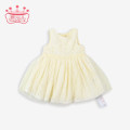 Dress Light yellow female Other / other 66CM 3-6M,73CM 6-9M,80CM 9-12M,85CM 12-18M,90CM  18-24M,95CM  24-36M Cotton 50% polyethylene terephthalate (polyester) 50% spring and autumn Europe and America Skirt / vest Solid color polyester fiber A-line skirt Class A