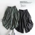 Casual pants Black, dark green S,M,L Summer of 2019 Ninth pants Wide leg pants High waist commute Thin money MUMUYICHU Korean version
