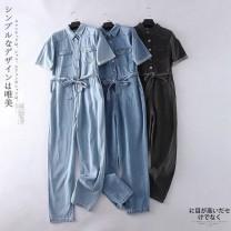 Jeans Spring 2021 Blue, light blue, black M, L Ninth pants Jumpsuit routine