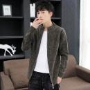 Jacket Karei Fashion City 609 grey green 609 black 609 dark grey 608 Navy green 608 black 608 army green 608 light grey M L XL 2XL 3XL thin Self cultivation Other leisure autumn KL-JK609 Polyester 100% Long sleeves Wear out stand collar tide youth routine Zipper placket Rib hem No iron treatment