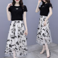 Dress Summer 2020 black S M L XL 2XL Mid length dress Two piece set Short sleeve commute Crew neck High waist Decor Socket A-line skirt routine Others 25-29 years old Type A Jiaboer Korean version JBENRJ/108B/8226 More than 95% other other Other 100% Pure e-commerce (online only)