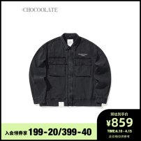 Jacket :CHOCOOLATE Youth fashion Bkz / Black S M L XL standard Other leisure Cotton 100% Spring 2021 Same model in shopping mall (sold online and offline)