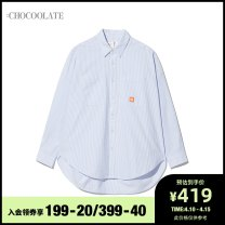 shirt BLA / blue XS S M Spring 2021 cotton 96% and above Long sleeves other Regular other stripe 25-29 years old :CHOCOOLATE B1XSTL8592ASG Cotton 100% Same model in shopping mall (sold online and offline)