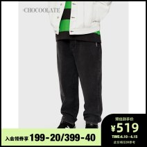 Casual pants :CHOCOOLATE Youth fashion Bkz / Black S M L XL trousers Other leisure Straight cylinder B1XPTC6187ASG Cotton 100% Spring 2021 Same model in shopping mall (sold online and offline)