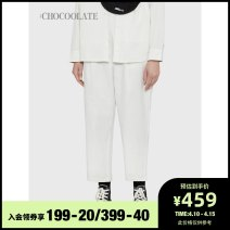 Casual pants Bgd / Brown IVX / white KHD / Khaki XS S M Spring 2021 trousers loose  low-waisted B1XPTL6622XSG :CHOCOOLATE Cotton 97.9% polyurethane elastic fiber (spandex) 2.1% Same model in shopping mall (sold online and offline)
