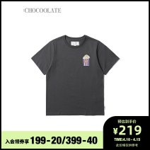 T-shirt GYX / medium gray NYX / Navy whx / white YEx / yellow XS S M Spring 2021 Short sleeve Regular cotton 96% and above :CHOCOOLATE B1XTEL1600XSG Cotton 100% Same model in shopping mall (sold online and offline)