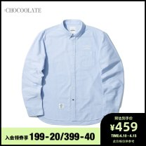 shirt Youth fashion :CHOCOOLATE S M L XL routine other Long sleeves standard Other leisure Cotton 100% Spring 2021 Same model in shopping mall (sold online and offline)