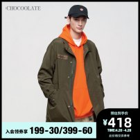 Jacket :CHOCOOLATE other KHX 2 BKX S M L XL standard Other leisure B1XLJC7127XAA Polyester 56.1% cotton 43.9% Spring of 2018 Same model in shopping mall (sold online and offline)