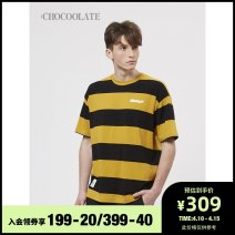 T-shirt Youth fashion Grx / green NYL / Navy YEQ / yellow routine S M L XL :CHOCOOLATE Short sleeve other standard Other leisure B1XTEC1068XSG Cotton 100% Spring 2021 Same model in shopping mall (sold online and offline)