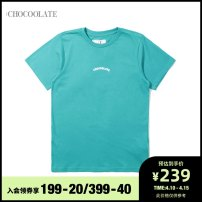 T-shirt XS S M Summer 2021 Short sleeve Regular cotton 96% and above :CHOCOOLATE Cotton 100% Same model in shopping mall (sold online and offline)