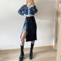 skirt Autumn 2020 S,M,L Black, Knitted Top Middle-skirt street High waist High waist skirt Leopard Print Type H 18-24 years old K20J08641 91% (inclusive) - 95% (inclusive) other KLIOU Strap, split 40g / m ^ 2 and below Europe and America