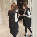 Vest Winter 2020 Black [quality version], light brown [quality version], green [quality version], 6672 sweater black plush, 6672 sweater apricot plush, 6672 sweater gray plush Medium length Hood Versatile Solid color zipper other Pocket, zipper