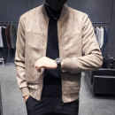 Jacket Ancient man Youth fashion M L XL 2XL 3XL 4XL routine Self cultivation Other leisure autumn Polyester fiber 93.3% polyurethane elastic fiber (spandex) 6.7% Long sleeves Wear out stand collar tide youth routine Zipper placket Rib hem No iron treatment Closing sleeve Solid color Autumn of 2018