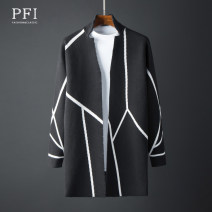 Windbreaker Youth fashion M L XL 2XL 3XL 4XL No buckle Medium length easy Other leisure autumn youth Lapel tide Geometric pattern Sanding Hidden thread patch bag Polyester viscose Color contrast other Summer of 2019 Pure e-commerce (online only)