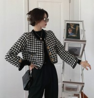 short coat Winter 2020 houndstooth  Long sleeves have cash less than that is registered in the accounts routine singleton  Straight cylinder commute routine stand collar Single breasted lattice 25-29 years old Other / other 81% (inclusive) - 90% (inclusive) polyester fiber polyester fiber