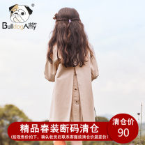 Plain coat Greedy dog female 110cm 120cm 130cm 140cm 150cm 160cm spring and autumn leisure time Single breasted There are models in the real shooting routine nothing Solid color other other Other 100% Class B Autumn of 2019