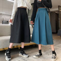 skirt Spring 2021 S M L Black Khaki blue Mid length dress commute High waist A-line skirt Solid color Type A 25-29 years old XW21030901 91% (inclusive) - 95% (inclusive) other Xoonwen / Xuanwen polyester fiber pocket Korean version Other polyester 95% 5% Pure e-commerce (online only)