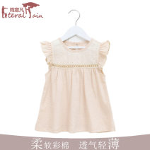 Dress Picture color short skirt (up to the buttocks), picture color long skirt (up to the knees), sleeveless short skirt (up dress), sleeveless long skirt (up to the knees) female Rain / rain Colored cotton summer princess Skirt / vest Solid color Natural colored cotton A-line skirt Class A