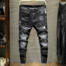 Jeans Youth fashion Suohuang / Suohuang 28 29 30 31 32 33 34 36 38 827 black routine Micro bomb Cotton elastic denim SH-827 trousers Cotton 93.8% polyester 4.9% polyurethane elastic fiber (spandex) 1.3% autumn youth middle-waisted Slim feet Youthful vigor 2019 Little straight foot Button cotton