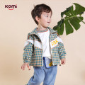 Plain coat Komi male 80cm 90cm 100cm 110cm 120cm Green yellow check spring and autumn leisure time Zipper shirt There are models in the real shooting routine No detachable cap lattice cotton other Cotton 100% Class A Spring 2020