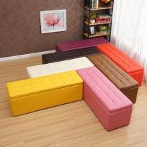 Storage stool Black-039, coffee-345, green-72s, blue-6v4, orange-23n, red-lf5, brown-0v8, rose-1d5, purple-59t, yellow-k7b, pink-05m, off white-9rf, black-and-white-ht8, fabric VeV villain Rectangular surface Leatherwear Fiberboard yes 150kg European style public yes coulorful a living room