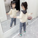 suit Panning wheat Beige skin pink 110cm 120cm 130cm 140cm 150cm 160cm female spring and autumn Korean version Long sleeve + pants 2 pieces routine There are models in the real shooting Socket No detachable cap other cotton children Giving presents at school Taomai ear denim suit Class B Other 100%