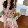 Dress Spring 2021 Cranberry Decor S M L XL longuette singleton  Long sleeves commute Half high collar High waist Decor Socket A-line skirt bishop sleeve Others 18-24 years old Shu Chen Korean version D1N3146 More than 95% other Other 100%