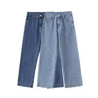 Jeans Spring 2021 Light denim, dark denim S,M,L,XL Ninth pants High waist Straight pants Zipper, button, multiple pockets Dark color MJ9337 Other / other