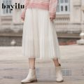 skirt Winter 2020 S M L XS XL Black sea salt truffle chocolate Mid length dress High waist 75Q3013H More than 95% Bayilu nylon Polyamide fiber (nylon) 100%